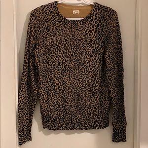 Cheetah print cardigan sweater from the LOFT